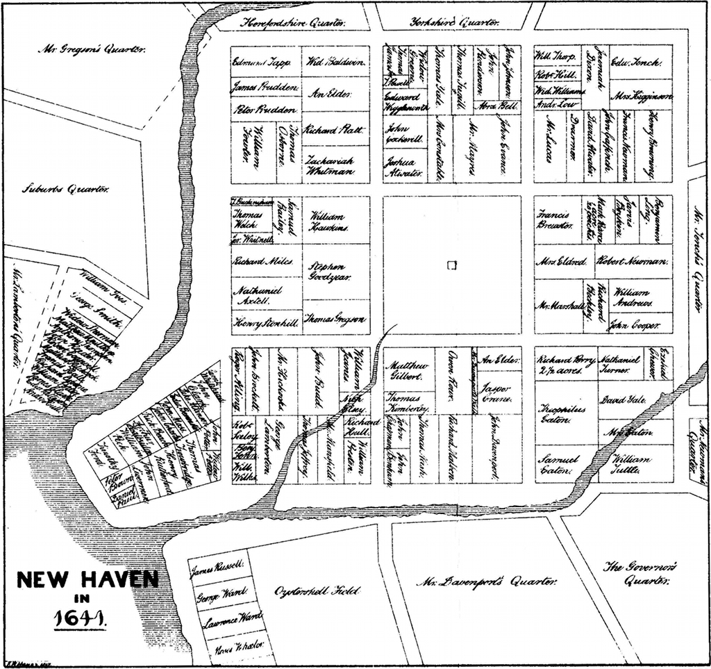 New Haven Town Plot 1641